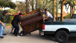 When playing moving Tetris - the piano goes first and on the bottom of the pile.