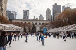 If you're into ice-skating, you will love the Winter Village during winter in NYC.