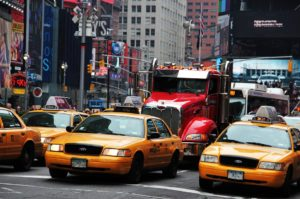 Ways to commute in New York is by a yellow cab