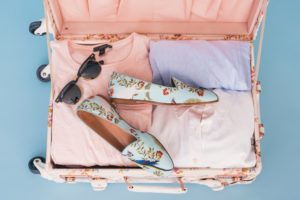 items in a suitcase