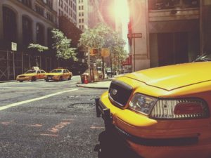 A yellow cab to use after moving to NYC as a senior.