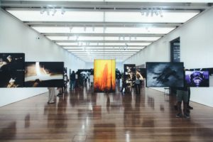 many Manhattan art galleries