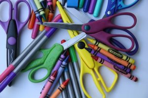 Markers and scissors.