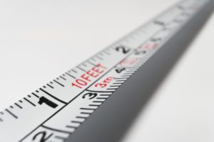 A measuring tape.