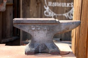 an anvil can be pretty heavy