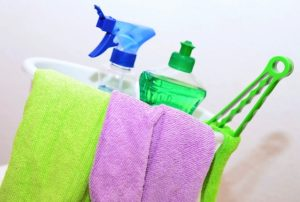 Cleaning kit is one of the items you should pack last on moving day.