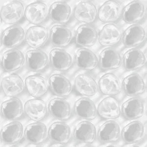 Plastic bubbles when packing your glassware for storage