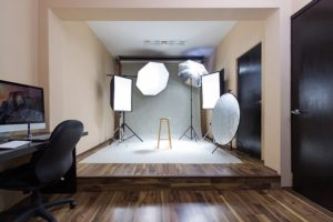 a photography session, representing Creating your perfect home photography office