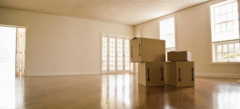 moving boxes, representing New Jersey Moving and Storage