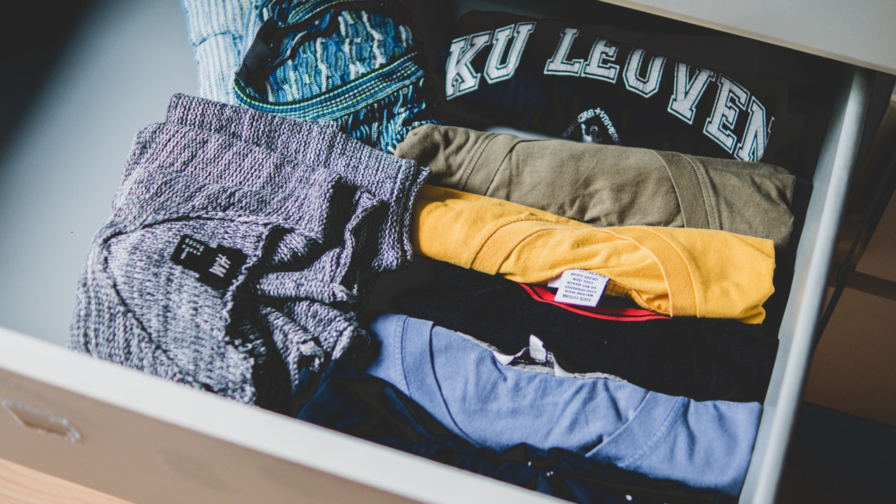 Clothes in a drawer - How to pack clothes for moving efficiently