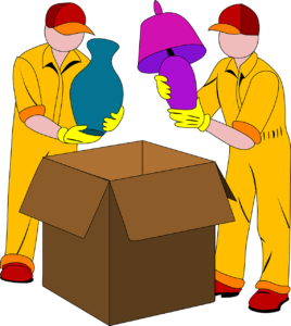 an image of movers packing items