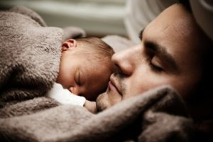A baby with father - Moving to NYC with a newborn