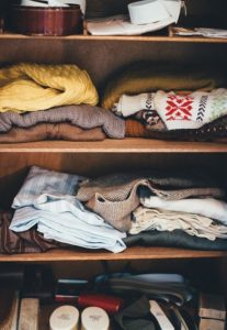 clothes on shelves - storing your clothes