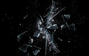 a shattered glass