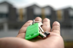 key in hand to move into a bigger house