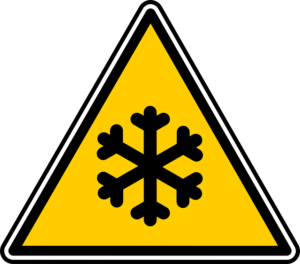 cold warning sign - pack and store film