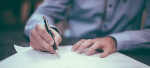 A person signing the contract