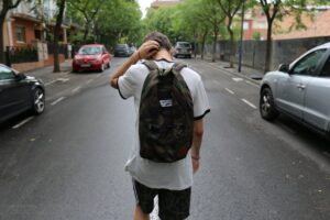 a teenager walking - teenagers adjust after moving to NYC