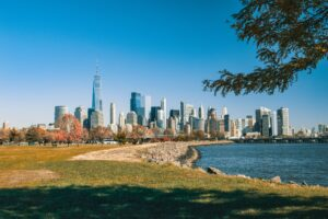 View from the Liberty Park in Jersey City